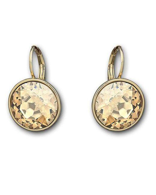 Swarovski | Yellow Bela Faceted Crystal Drop Earrings | Lyst