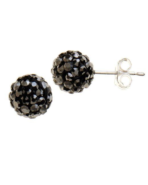 Lord & Taylor | Black Sterling Silver Cluster Stud Earrings | Lyst