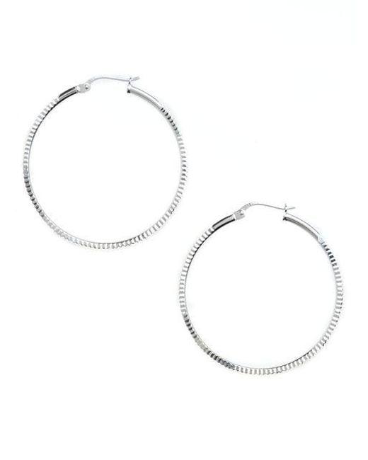 Lord & Taylor | Metallic Sterling Silver Hoop Earrings | Lyst
