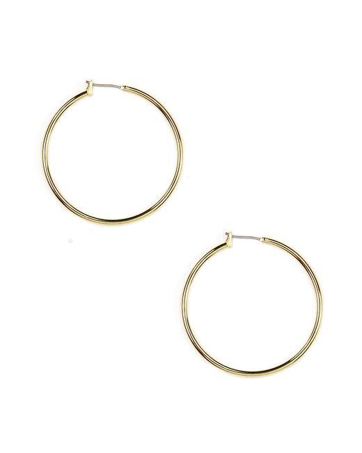 Anne Klein | Metallic Hoop Earrings | Lyst