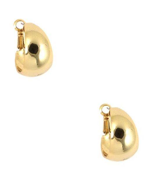 Anne Klein | Metallic Goldtone Huggie Hoop Earrings | Lyst