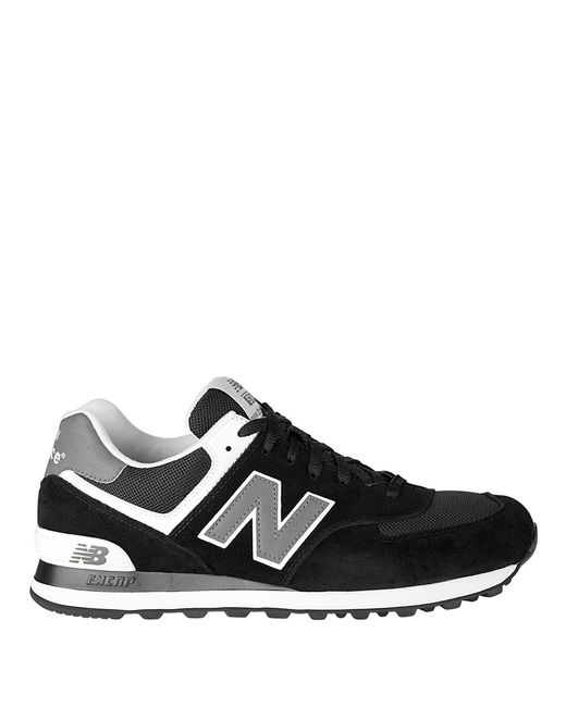 New Balance | Black Suede And Mesh Sneakers for Men | Lyst