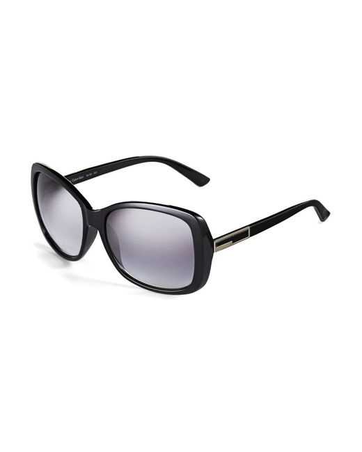 Calvin Klein | Black Plastic Oversized Sunglasses | Lyst