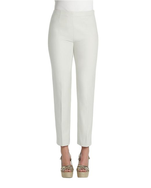 NIC+ZOE | White Petite Fitted Cigarette Pants | Lyst