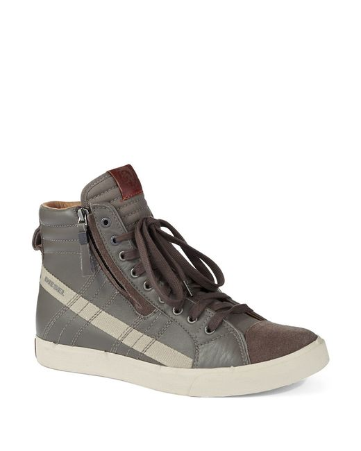 DIESEL | Gray Moonlight Eclipse Hi-top Sneakers for Men | Lyst