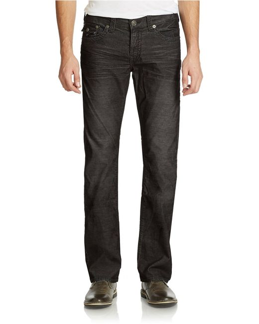 True Religion | Black Ricky Relaxed Straight-fit Pants for Men | Lyst