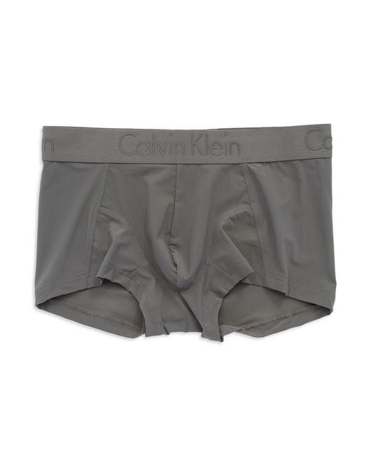 Calvin Klein | Gray Low Rise Trunks for Men | Lyst