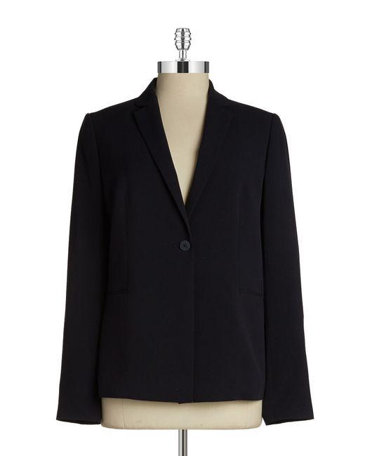 T Tahari | Blue One-button Jacket | Lyst
