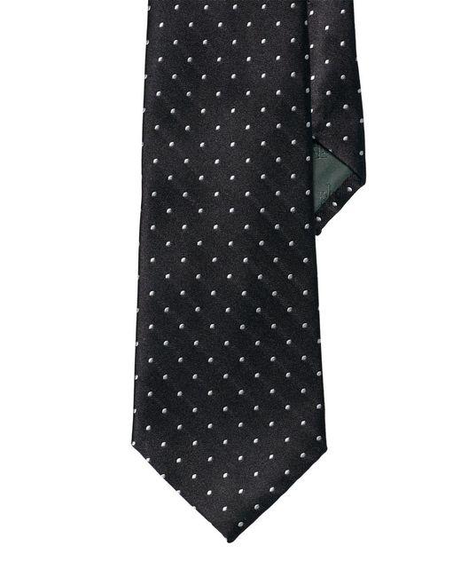 Lauren by Ralph Lauren | Black Pin Dot Silk Tie for Men | Lyst