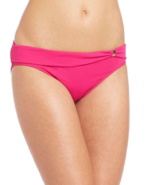 Lauren by Ralph Lauren | Pink Floral Twist Hipster Bikini Bottom | Lyst