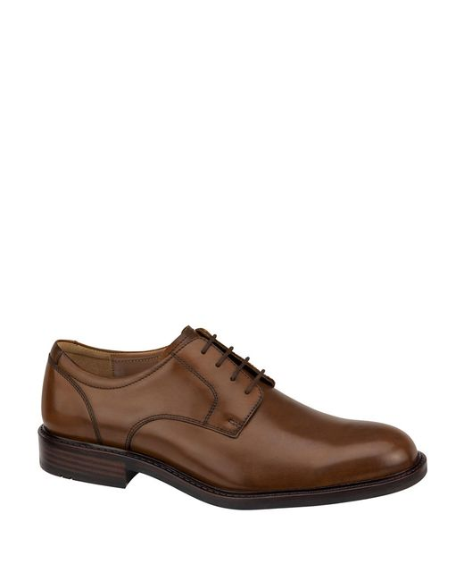 Johnston & Murphy | Brown Tabor Plain-toe Leather Oxfords for Men | Lyst