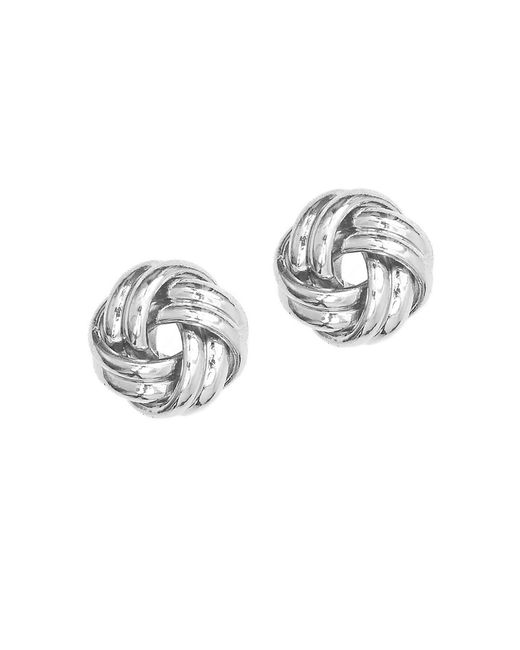Anne Klein | Metallic Silvertone Knot Stud Earrings | Lyst