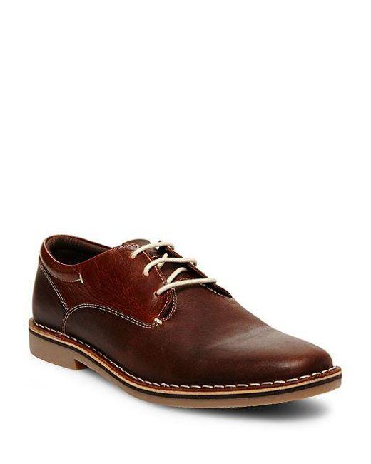 Steve Madden | Brown Leather Oxfords for Men | Lyst
