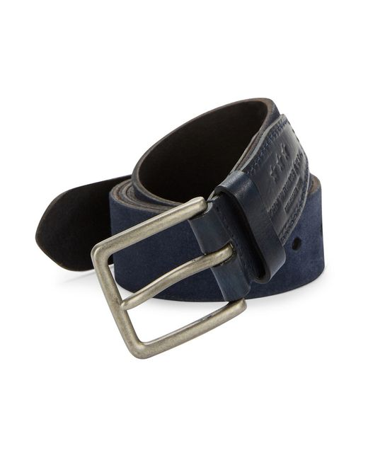 John Varvatos | Blue Suede Belt for Men | Lyst