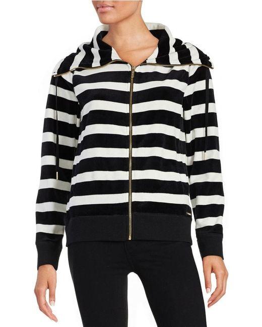 Calvin Klein | Black Striped Funnelneck Jacket | Lyst