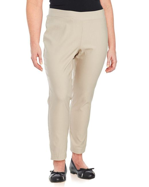 Lord & Taylor | Natural Plus Solid Ankle-length Pants | Lyst