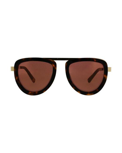 Kendall + Kylie   Brown 50mm Bridgeless Teardrop Aviator Sunglasses   Lyst