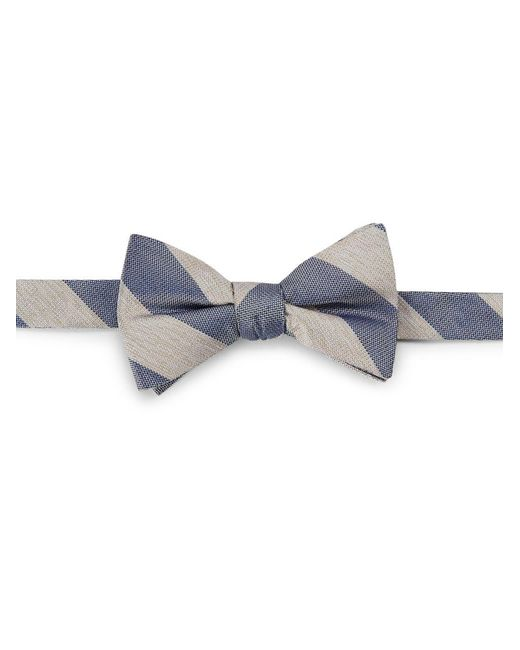 Cole Haan | Blue Striped Silk Bow Tie for Men | Lyst