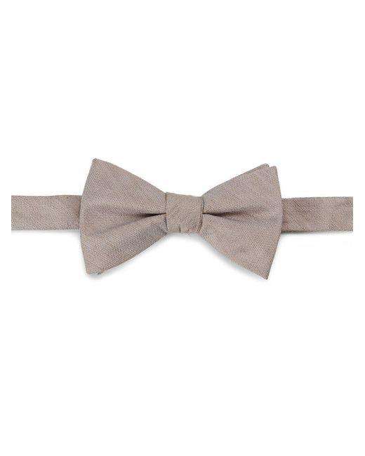 Cole Haan | Brown Silk-linen Bow Tie for Men | Lyst