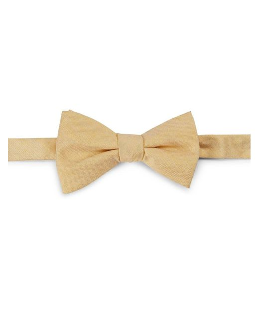 Cole Haan | Natural Silk-linen Bow Tie for Men | Lyst