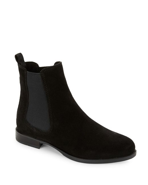 La Canadienne Lilah Suede Chelsea Boots In Black Lyst
