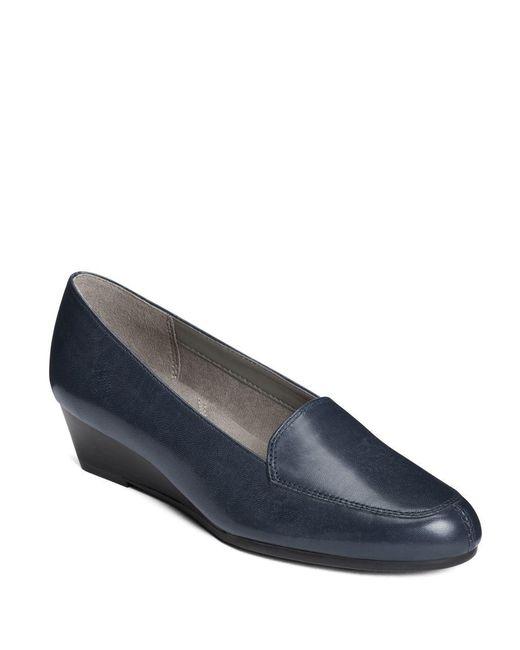Aerosoles | Blue Lovely Leather Slip-on Shoes | Lyst