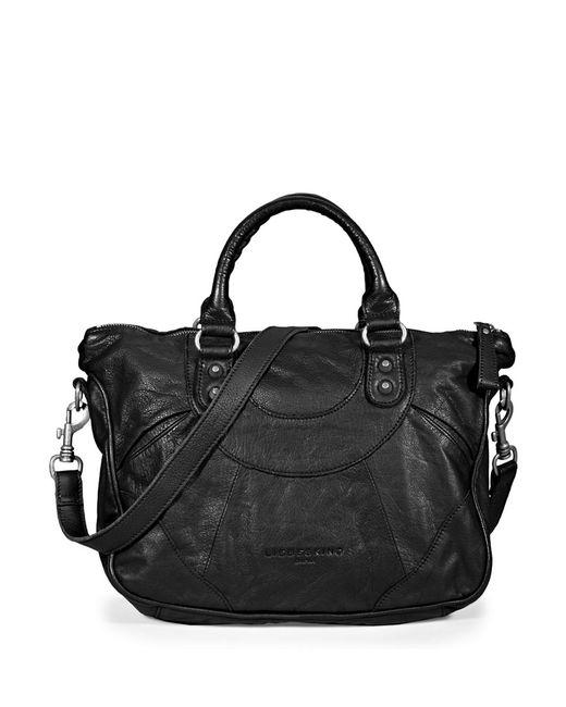 liebeskind berlin esther satchel bag in black lyst. Black Bedroom Furniture Sets. Home Design Ideas
