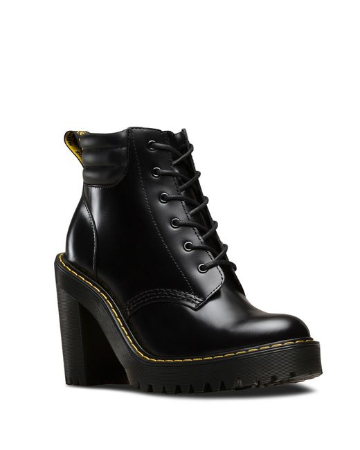 Dr. Martens | Black Persephone 6-Eye Leather Ankle Boots | Lyst