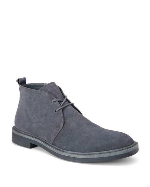 calvin klein jae suede boots in gray for lyst