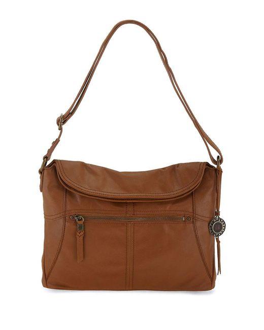 The Sak | Brown Leather Esperato Flap Hobo | Lyst