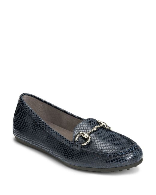 Aerosoles | Blue Drive Through Snake Printed Moccasins | Lyst
