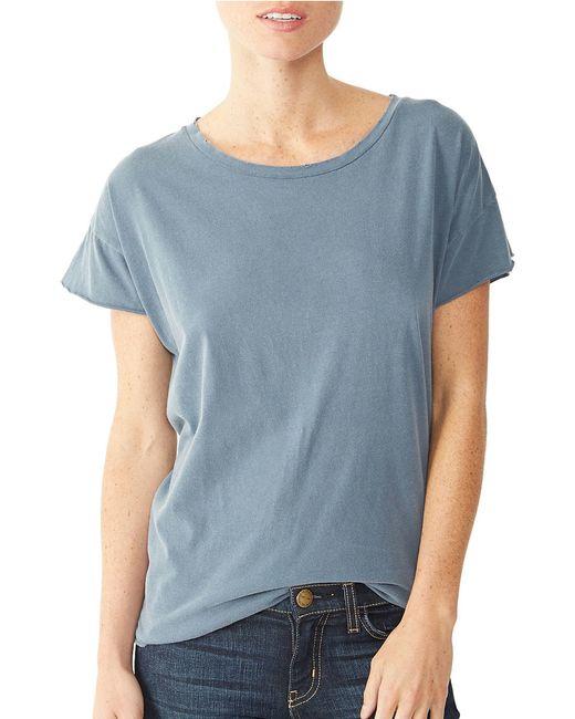 Alternative Apparel | Blue Rocker Garment Dyed Distressed T-shirt for Men | Lyst