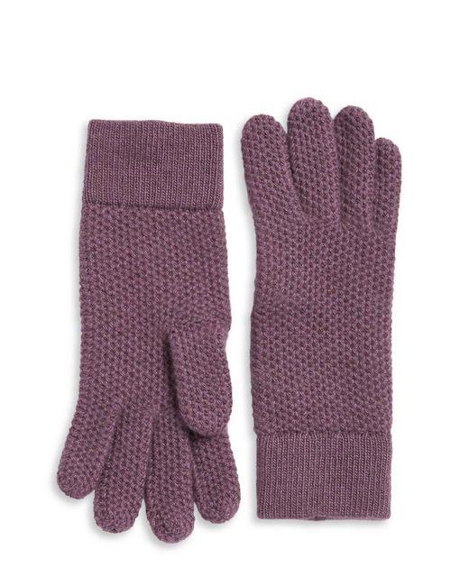 Portolano | Purple Knit Cashmere Gloves | Lyst