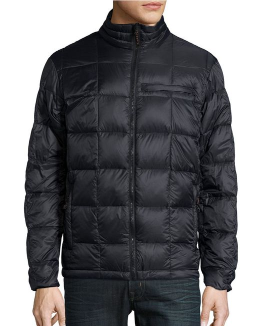 Hawke Amp Co Packable Quilted Down Jacket In Black For Men