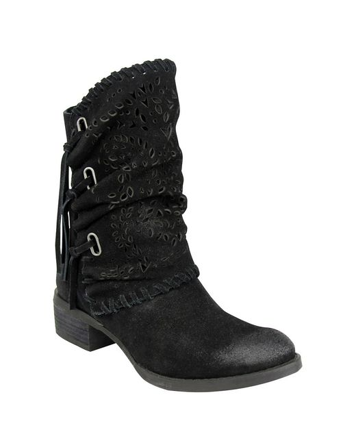 monkey v phyer suede boots in black lyst