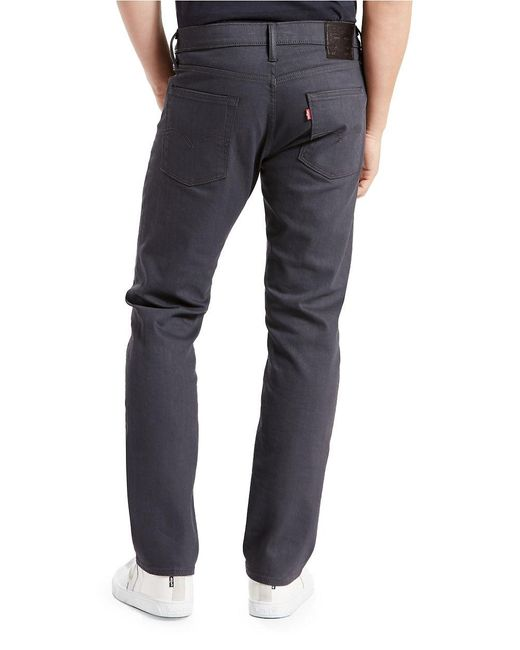 Levi S 513 Slim Straight Fit Jeans In Gray For Men Lyst
