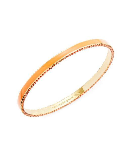 Kate Spade | Metallic The Bangles Crystal Pave-trimmed Striped Bangle Bracelet | Lyst