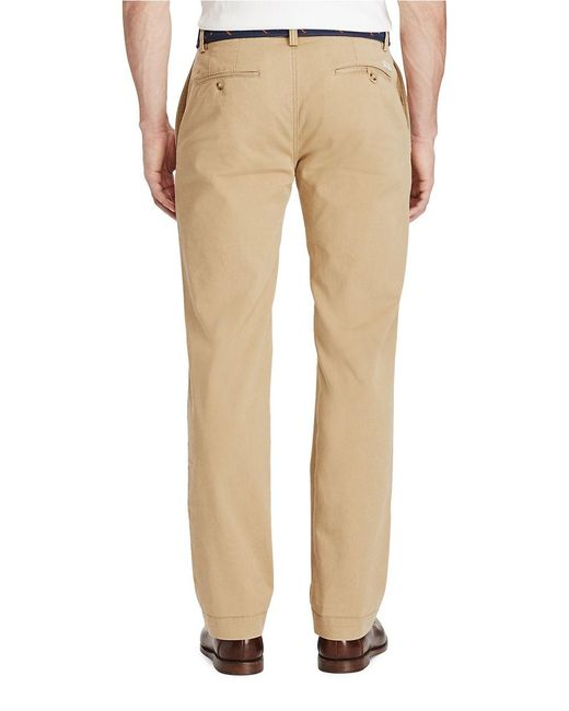 Polo ralph lauren Classic-fit Twill Chino Pants for Men | Lyst