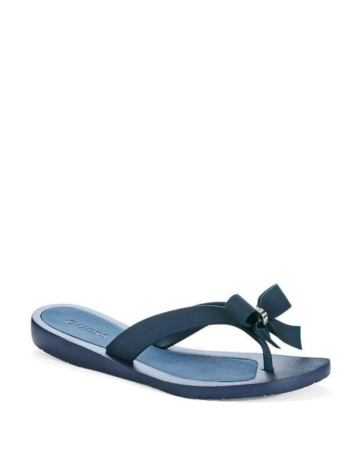 Guess   Blue Tutu Flip Flops   Lyst