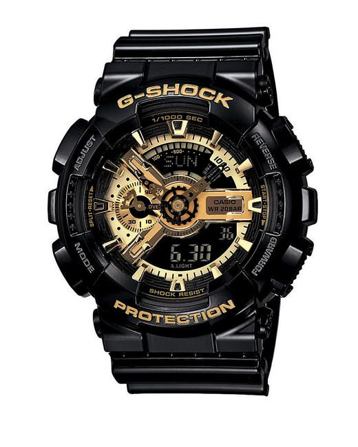 G-Shock | Men's Analog-digital Mudmaster Vintage Gold Black Resin Strap Watch 55x56mm Gg1000gb-1a for Men | Lyst
