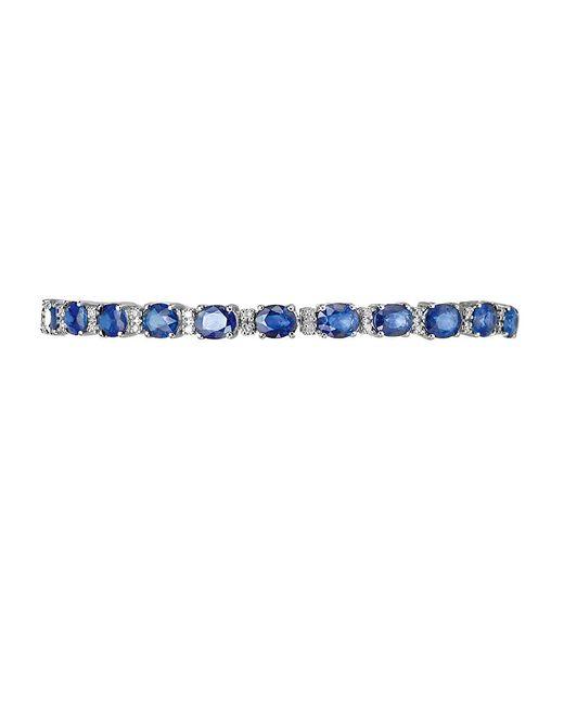 Effy | Blue Royale Bleu Sapphire, Diamond And 14k White Gold Bracelet | Lyst