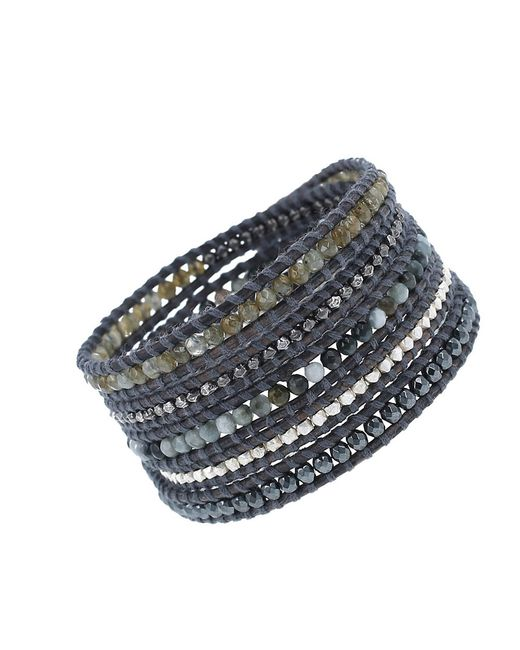 Chan Luu | Multicolor Sterling Silver And 14 Kt. Gold Vermeil Leather Wrap Bracelet | Lyst