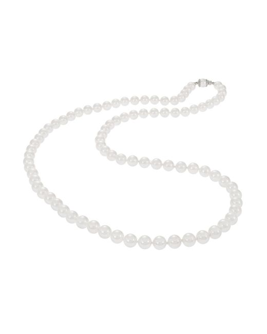 Nadri | White Faux Pearl Necklace | Lyst