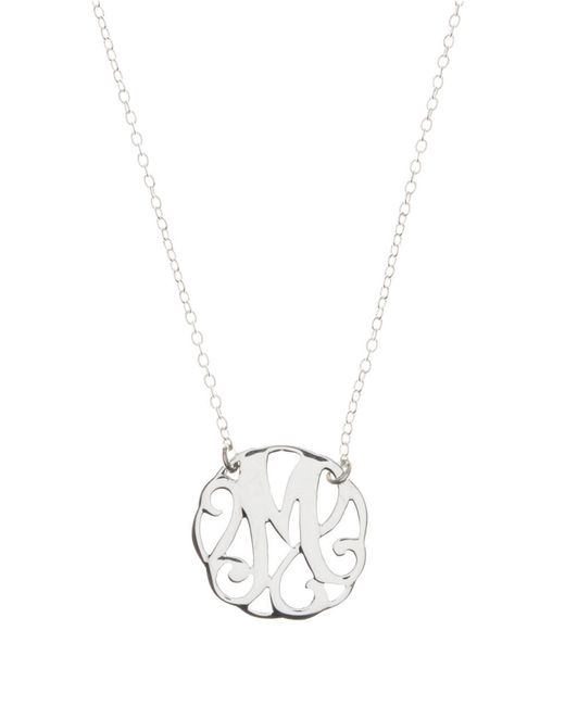 Lord & Taylor | Metallic Sterling Silver M Initial Pendant Necklace | Lyst