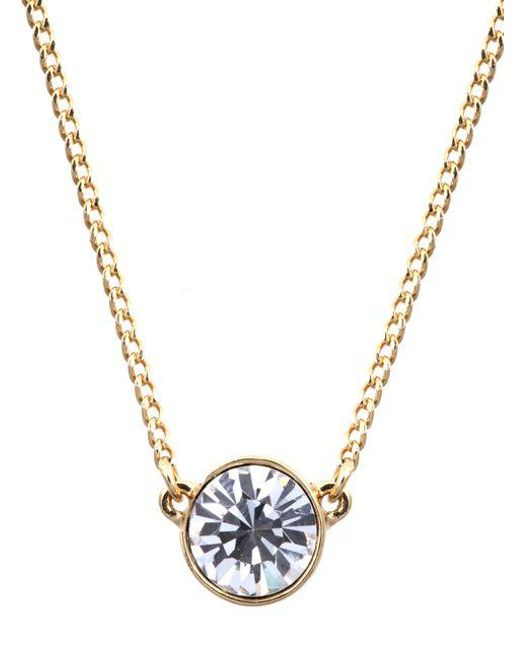 Givenchy | Metallic Necklace, Silver-tone Small Swarovski Element Pendant Necklace | Lyst