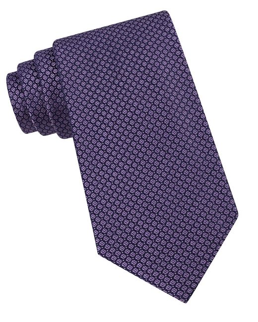 Calvin Klein   Purple Classic Fit Micro Dot Textured Silk Tie for Men   Lyst