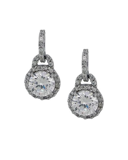 Lord & Taylor | Metallic Crystal Drop Earrings | Lyst