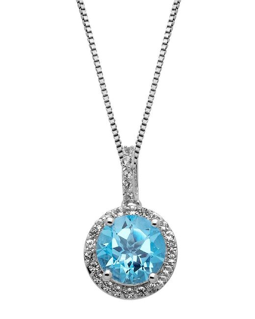 Lord & Taylor | Sterling Silver Blue And White Topaz Pendant | Lyst