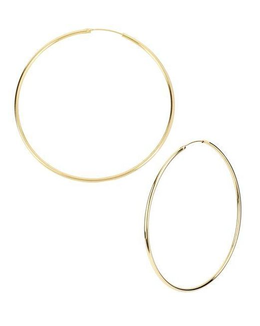 Kenneth Cole | Metallic Goldtone Large Hoop Earrings | Lyst