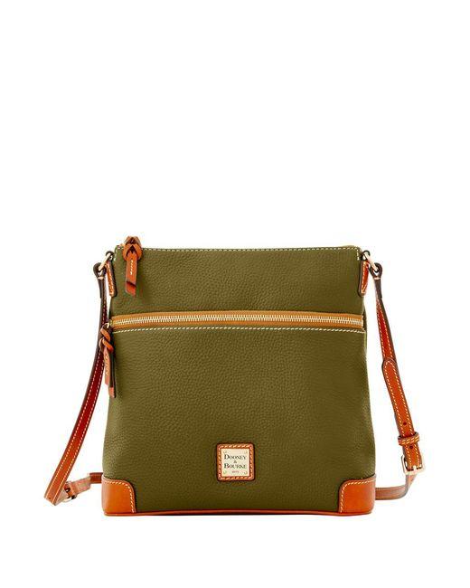 Dooney & Bourke | Green Pebbled Leather Crossbody Bag | Lyst